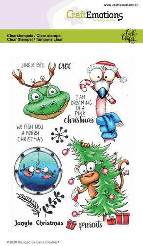CraftEmotions clearstamps A6 - Jungle Christmas Carla Creaties