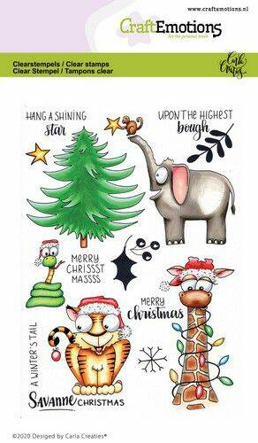 CraftEmotions clearstamps A6 - Savanne Christmas Carla Creaties