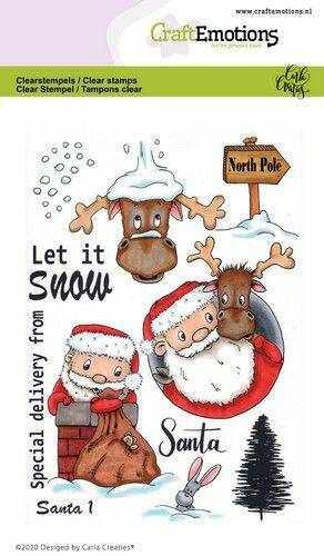 CraftEmotions clearstamps A6 - Santa 1 Carla Creaties