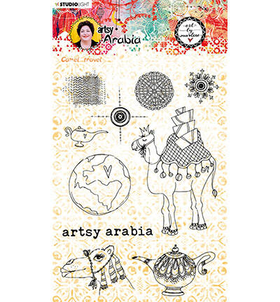 STAMPBM60 - Art By Marlene Clear Clear Stamp Artsy Arabia, nr.60