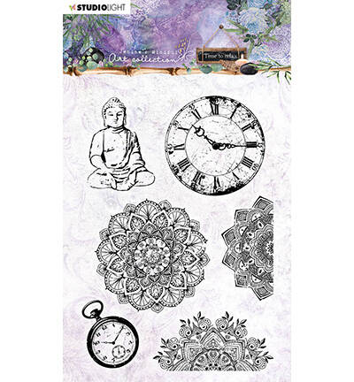 STAMPJMA17 - Jenine's Mindful Art Clear Stamp Time to Relax, nr.17