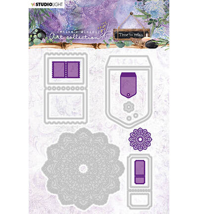 STENCILJMA10 - Jenine's Mindful Art Cutting & Embossing Die Time to Relax, nr.10