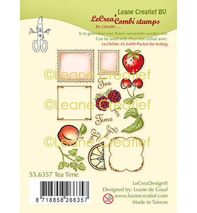 Combi clear stamp Thee tijd, nr. 55.6357