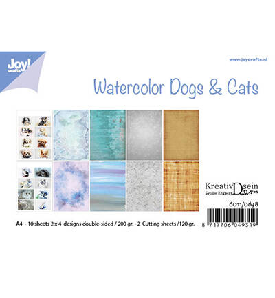 6011/0638 - Bille - Design Aquarell Dogs & Cats