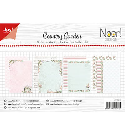 6011/0643 - Papierset-Noor- Design Country Garden