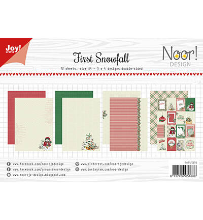 6011/0659 - Papierset - Noor - Design - First Snowfall