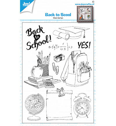 6410/0528 - Clearstamps - Back to school