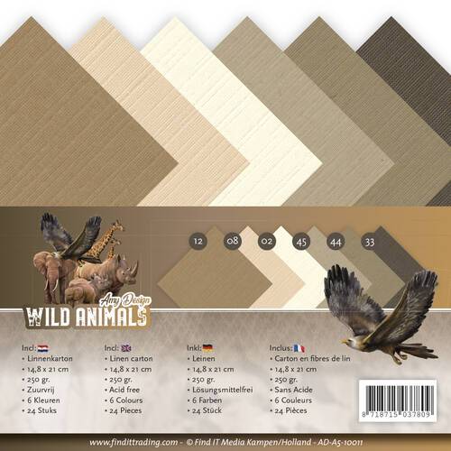 Linnenpakket - A5 - Amy Design - Wild Animals, nr.  AD-A5-10011
