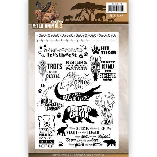 Clearstamp - Amy Design - Wild Animals - Tekst, nr. ADCS10016