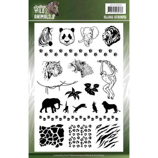 Clear Stamps - Amy Design - Wild Animals 2, nr. ADCS10058