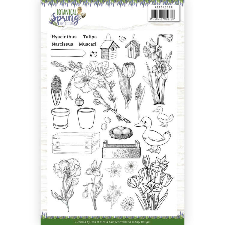Clear Stamps - Amy Design - Botanical Spring, nr. ADCS10066