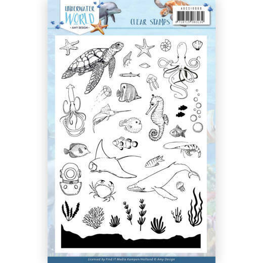 Clear Stamps - Amy Design - Underwater World, nr. ADCS10068