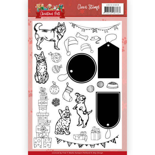 Clear Stamps - Amy Design - Christmas Pets, nr. ADCS10069