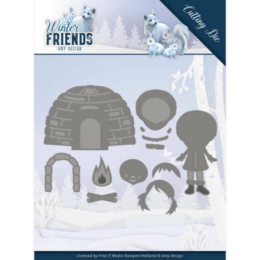 Dies - Amy Design - Winter Friends - Eskimo, nr. ADD10193