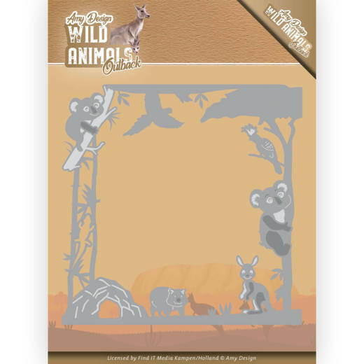 Dies - Amy Design - Wild Animals Outback - Koala Frame, nr. ADD10203