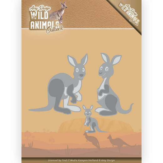 Dies - Amy Design - Wild Animals Outback - Kangaroo, nr. ADD10209