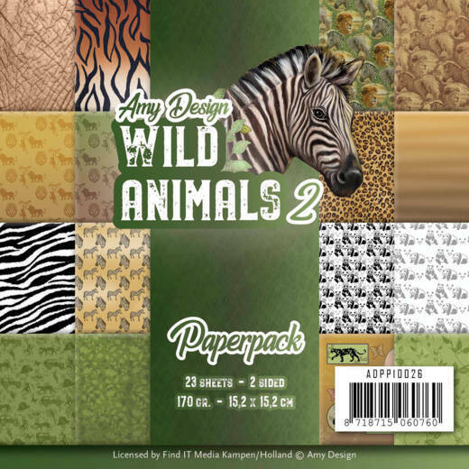 Paperpack - Amy Design - Wild Animals 2, nr. ADPP10026
