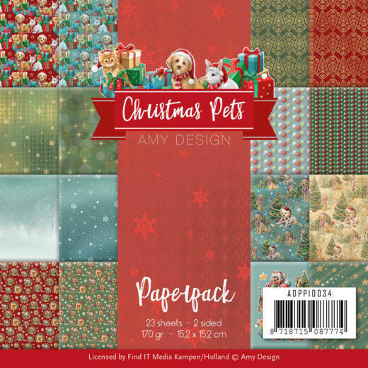 Paperpack - Amy Design - Christmas Pets, nr. ADPP10034