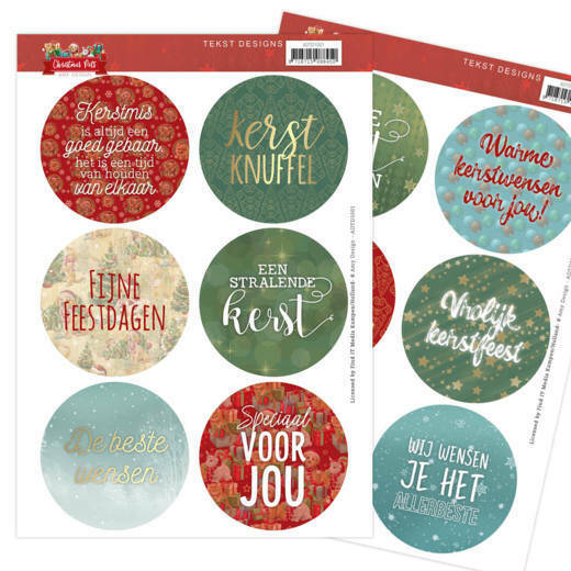 Tekst Designs - Amy Design - Christmas Pets (NL), nr. ADTD1001