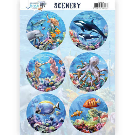 Push Out Scenery - Amy Design - Underwater World - Sea World, nr. CDS10029