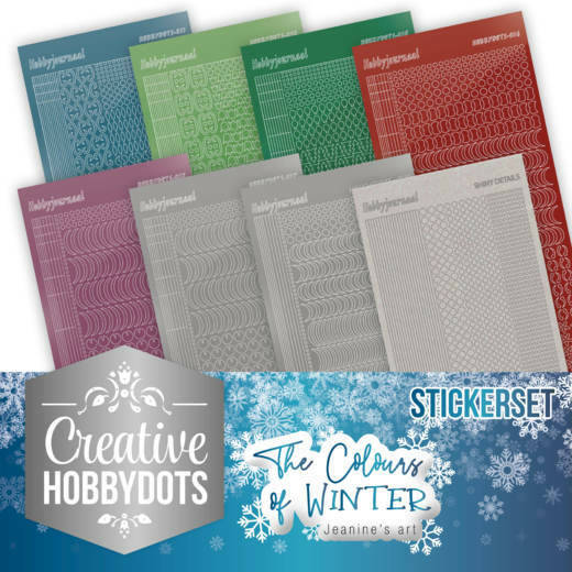 Creative Hobbydots 7 - Jeanine's Art - The colours of winter - Sticker Set, nr. CHSTS007