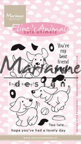 Clear Stamp Eline's cute animals - puppies EC0177