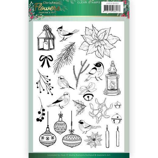 Clear Stamps - Jeanines Art Christmas Flowers, nr. JACS10033