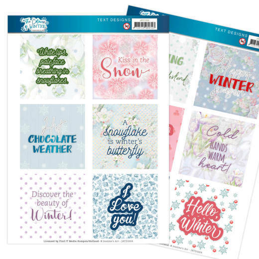 Text Designs - Jeanine's Art - The colours of winter (EN), nr. JATD1004