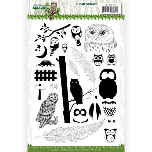Clear Stamps - Amy Design - Amazing Owls, nr. ADCS10070