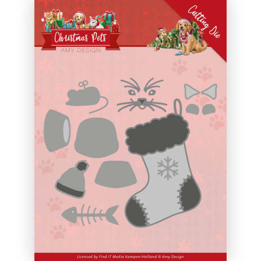 Dies - Amy Design - Christmas Pets - Christmas Cat, nr. ADD10214