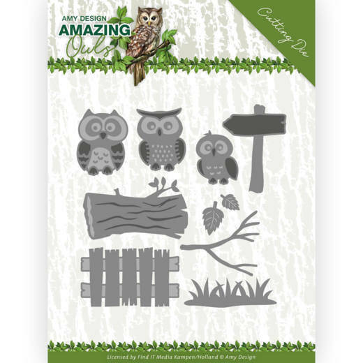 Dies - Amy Design - Amazing Owls - Owl Family, nr. ADD10217