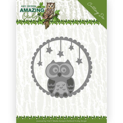 Dies - Amy Design - Amazing Owls - Night Owl, nr. ADD10219