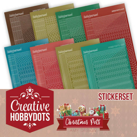 Creative Hobbydots 5 - Amy Design - Christmas Pets - Sticker Set, nr. CHSTS005