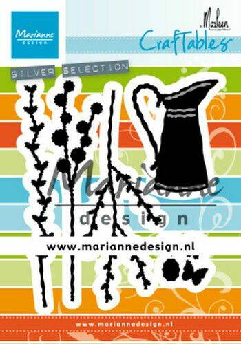 Craftable kan met bloemen by Marleen CR1499