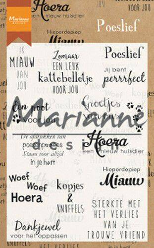 Clear Stamps Poeslief (NL) CS1023