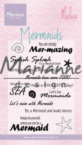 Clear Stamps Mermaid sentiments by Marleen (Eng) CS1025