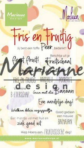 Clear Stamps Marleen's Fris & Fruitig (NL) CS1030