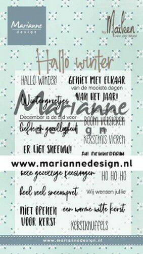 Clear Stamps Marleen's Hallo winter (NL) CS1036