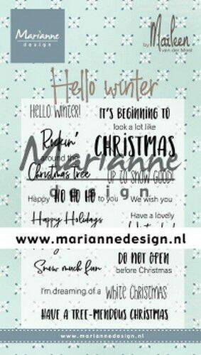 Clear Stamps Marleen's Hello winter (Eng) CS1037