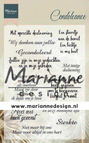 Clear Stamps Condoleance (NL) CS1041