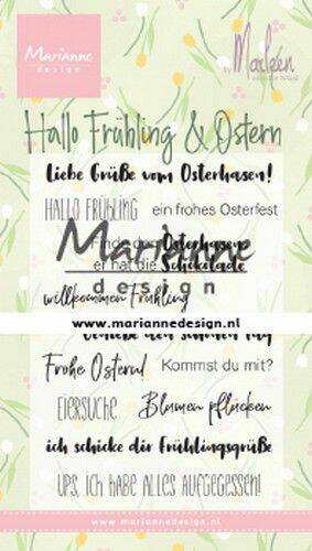 Clear Stamps Marleen's Hallo Fruhling & Oster (DE) CS1045