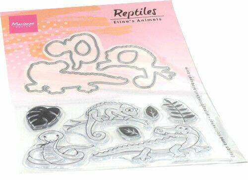 Clear stamp Eline's Animals - reptielen EC0181 stamps dies