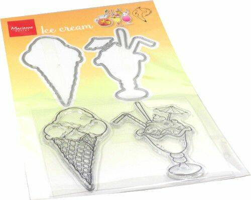 Clear Stamp & Die Hetty's Summer - ice cream HT1657 stamps dies