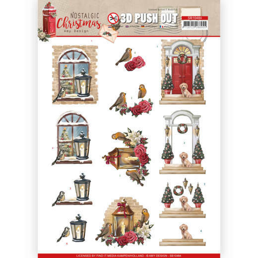 3D Push Out - Amy Design - Nostalgic Christmas - Warm Christmas, nr. SB10484