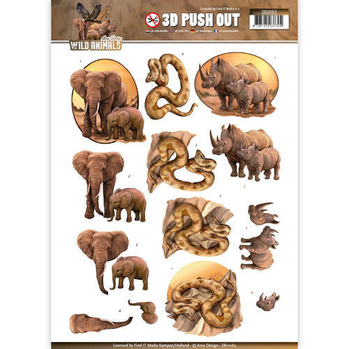 Pushout - Amy Design - Wild Animals, nr. SB10162