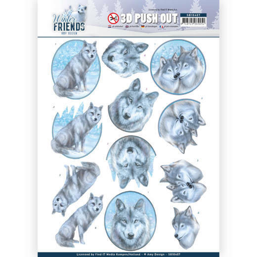 3D Pushout - Amy Design - Winter Friends - Winter Wolves, nr. SB10407