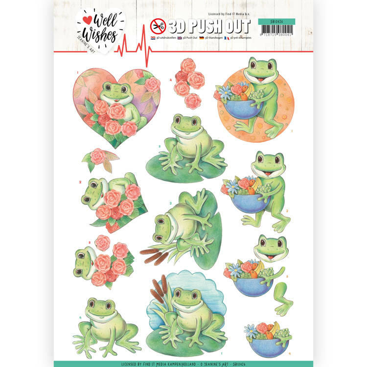 3D Pushout - Jeanine's Art - Well Wishes - Frogs, nr. SB10426