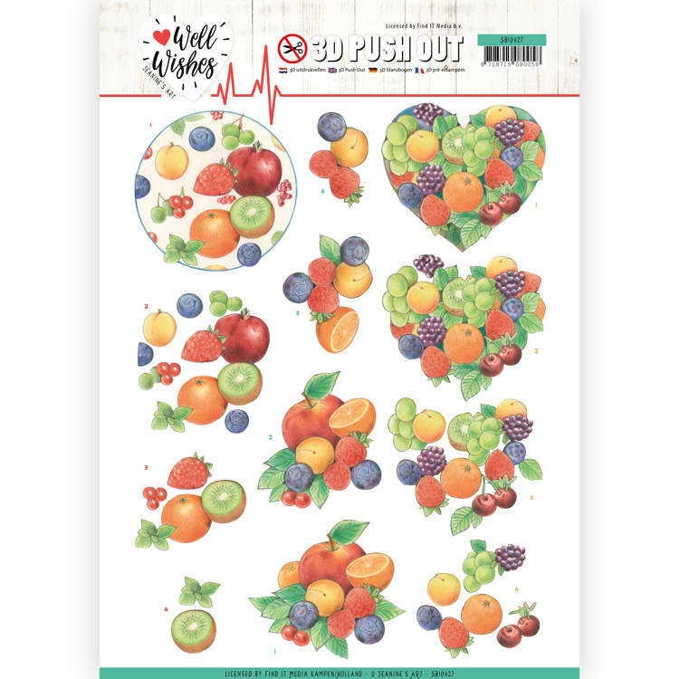 3D Pushout - Jeanine's Art - Well Wishes - Fruits, nr. SB10427