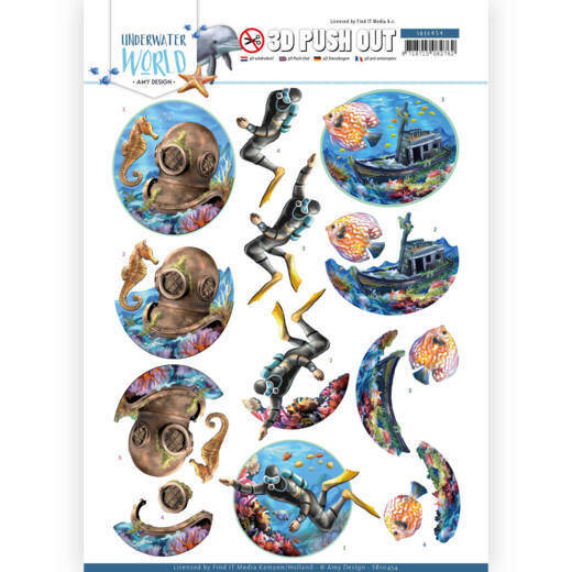 3D Push Out - Amy Design - Underwater World - Deepsea Diving, nr. SB10454