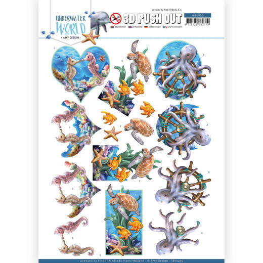3D Push Out - Amy Design - Underwater World - Sea Animals, nr. SB10455